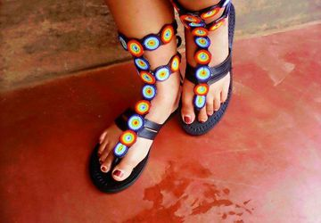 Sexy Kenyan Gladiator Sandals
