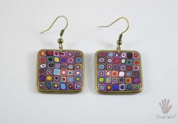 Gustav Klimt Squared Earrings - BQDK-0-41