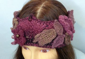 Elf Style Headband, Autumn Colours Headband with Flowers and Leaves, Wiccan Headband, Festival Wear, Winter Headband
