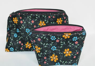 Matching Organizer Bags, Travel Bags, Travel Case, Zipper Bag, Flower Bag, Gift under 20