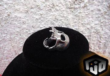 Silver Skull Ring - Black Metal Ring - Black Metal Jewelry - Gothic Ring - Vampire Ring - Viking Ring
