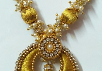 Gold Silk thread necklace