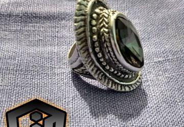 Silver Gothic Ring - Antique Ring