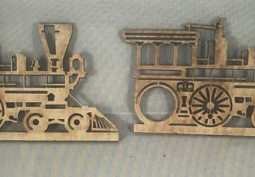 Wooden train wall hangings