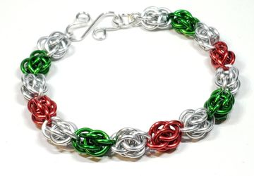 Christmas Chainmaille Bracelet