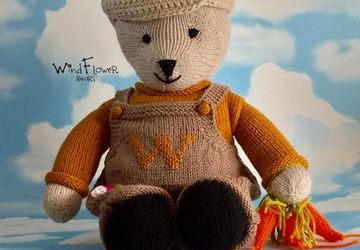 Hand crafted, one of a kind teddy bear - Basil.