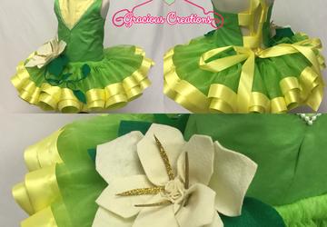 Custome tutu sets. Princess Tiana inspired