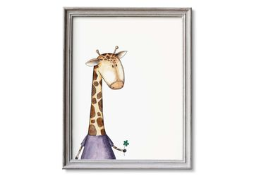 Giraffe Nursery Art, Printable Giraffe Watercolor, Safari Nursery Decor, Giraffe Decor, Zoo Animals Wall Art, Zoo Nursery Decor