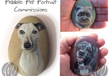 Pebble Pet Portrait commission - dogs