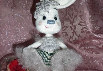 A toy bunny