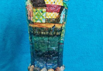 A vase with abstraction (decoupage)