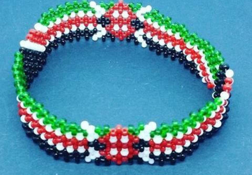 Masai beaded Kenyan flag bracelet-Masai beaded bracelet-masaai jewelry