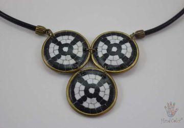 Portuguese Cobblestone Indigo Necklace - CIDC-4-28