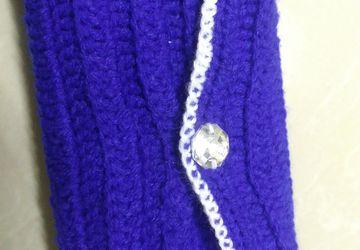 Hand made crochet woolen handbag