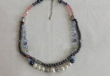 "Swarovski double length glass pearl 18"" necklace"
