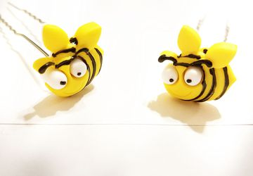 Cute Bee 3 Inch hair pin set #20