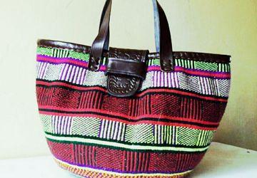 African handwoven Masai bag