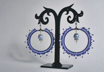 "Earrings ""Snowy daydream"""