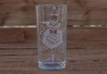 Rose And Dagger Drinking Glass