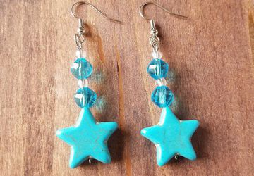 Sailor Mercury Star Earrings/Sailor Mercury Cosplay/Mercury Earrings/Mercury Costume/Amy Costume/Sailor Moon Jewelry
