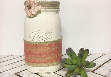 Rustic Mason Jar, Mason Jar Kitchen Decor, Mason Jar Utensil Holder, Mason Jar for Kitchen, Mason Jar Kitchen Storage, Mason Jar Decor, Mason Jar Vase