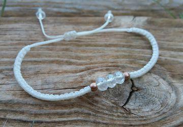 White Minimal Macrame Bracelet