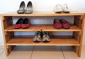 Wood Shoe Rack - Shoe Storage Bench