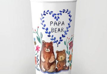 Papa Bear Ceramic Travel Mug