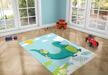 Dinosaur Love, PVC Carpet print, kids Room Decor ,Boys Carpets, Boys Nursery Art, Gift for Boys, Art for Boys Room, Dinosaur illustration