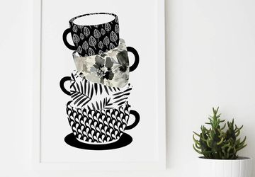 Coffee lover gift, modern kitchen art,