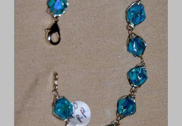 turquoise caged crystal bracelet