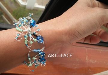 Butterfly cuff Bracelet Beaded bracelet for Women Bridesmaid woven bracelet Birthday gift her Delicate Filigree butterfly Christmas Gift her