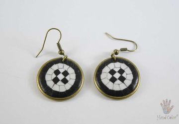 Portuguese Cobblestone Round Earrings - BCDC-7-28