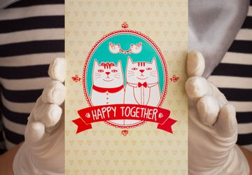 "Postcard ""Happy Together"""