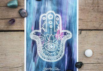 Hamsa Hand Print