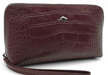 Leather cosmetics bag Cangurione 3150-012 KR/Burgundy