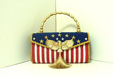 Patriotic Red,White& Blue Handbag/Purse