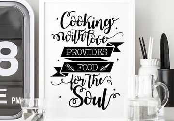 Kitchen quote, cooking wall art