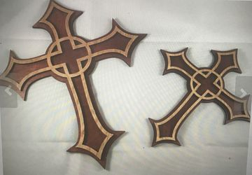 Two toned wooden crosses