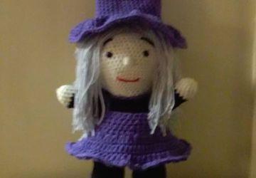 Doll Crocheted Witch Handmade Halloween#Gift Plush Amigurumi