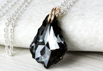 Black swarovski necklace Crystal Jewelry