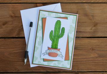 Cactus Greetings Card
