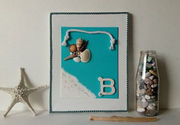 Coastal Wall Decor, Turquoise Coastal Wall Decoration