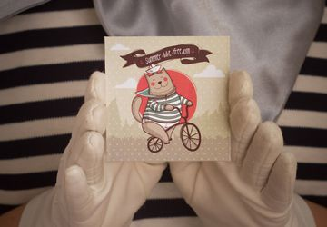 "Souvenir card ""Summer. Bike. Freedom"""