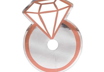 Diamond Ring Glass Tags For Hens Nights |Pecka Products