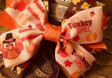 Headband Bow for 0-12 Months. Perfect for Thanksgiving Celebrations. Free Shipping