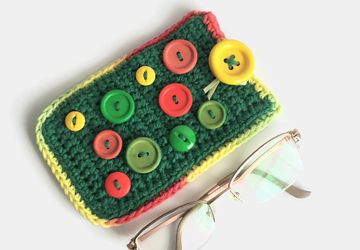 Green and Colorful Soft Eyeglass Case