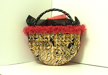 Red,Black and Gold large Tote bag/Handbag
