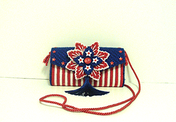 Patriotic,Red,White & Blue Clutch/Evening bag