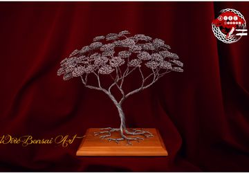 Wire bonsai tree , Home decor, wood , deco, decoration, metal sculpture, oryginal gift, tree life, Japanese decoration, personal gift